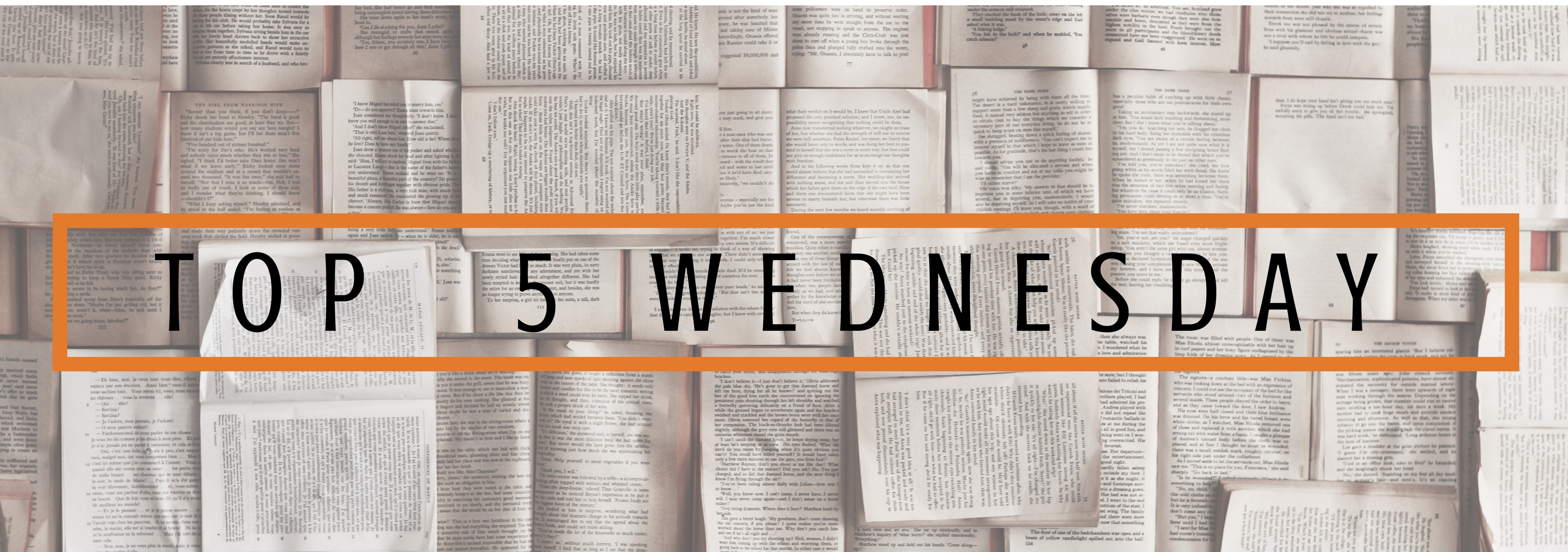 Top 5 Wednesday | Books From Before I Joined WordPress