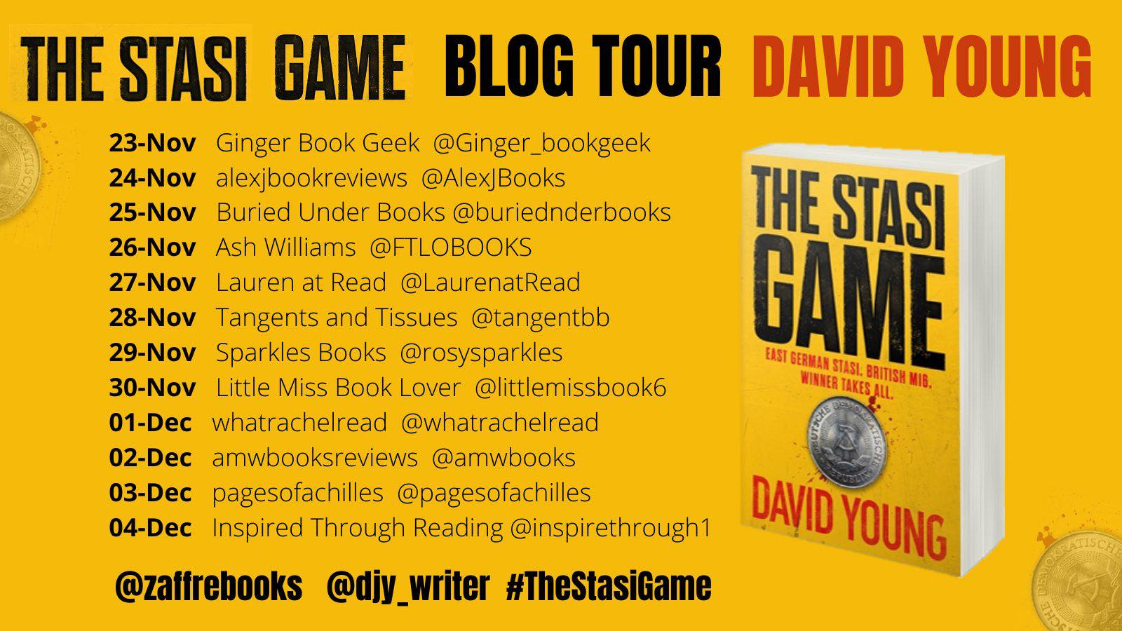 AD-PR | Blog Tour | The Stasi Game – David Young